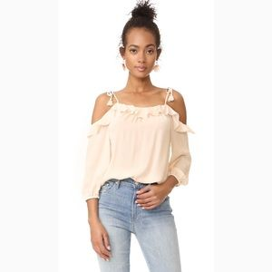 🆕✨Joie Eukene Ruffle Cold Shoulder Blouse